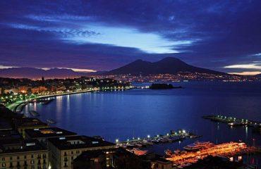 Naples_by_night_Vesuvius